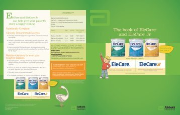The book of EleCare® and EleCare® Jr - Abbott Nutrition