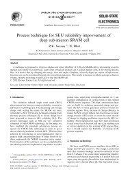 Process technique for SEU reliability improvement of deep sub ...