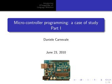A short presentation of Arduino microcontroller