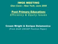 Universal post primary education: Costs estimates and ... - IIEP