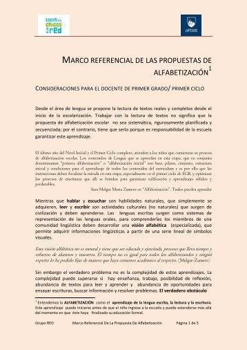 MARCO REFERENCIAL DE LAS PROPUESTAS ... - TramixSakai ULP