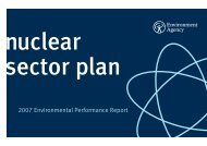 2007 Environmental Performance Report - Environment Agency