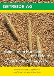 Gemeinsam Handeln – mit Erfolg! Succesfuldt ... - Getreide AG