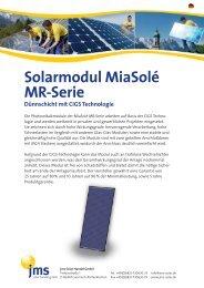 Solarmodul MiaSolé MR-Serie - jms Solar Handel GmbH