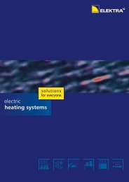 electric heating systems - Elektra