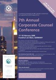 Conference Brochure - Miller & Chevalier