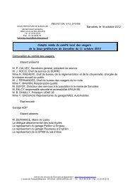 CR du CLU du 11-10-2012 - Les services de l'État dans le Val-d'Oise
