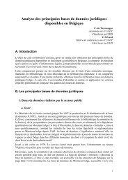 analyse des bases de donnees juridiques disponibles en ... - crids