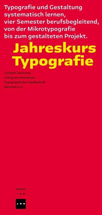Jahreskurs Typografie - Gorbach