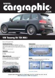VW Touareg R5 TDI MK1 - Cargraphic