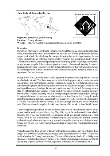 Case Study 14 Innovative Bicycles Objective - The Global ...