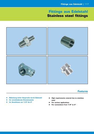 Fittings aus Edelstahl Stainless steel fittings - Amet