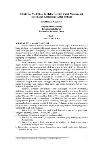 Terapi Kognitif - USU Library - Universitas Sumatera Utara