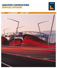 Leighton Contractors Services Division 2012 - Leighton Holdings