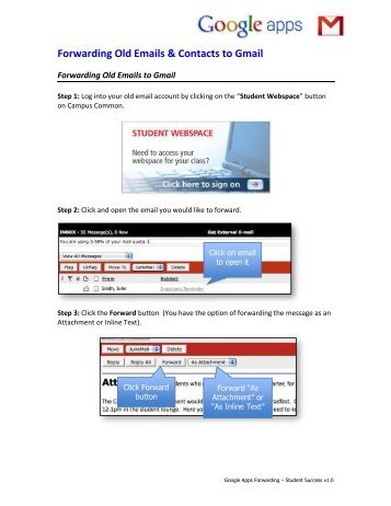 Forwarding Old Emails & Contacts to Gmail