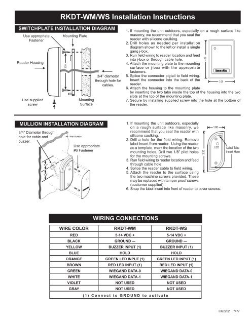 rkdt wm ws installation instructions secura key Un iMac Washer Wiring Diagram
