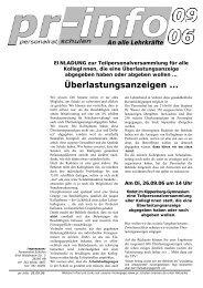 Überlastungsanzeigen ... - Personalrat Schulen Bremen