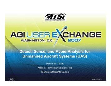 Detect, Sense and Avoid Analysis for UAS - AGI