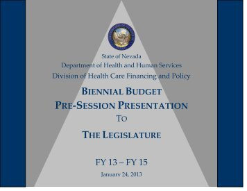 Division of Health Care Financing and Policy, January 24, 2013