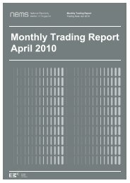 Monthly Trading Report April 2010 - EMC - Energy Market Company