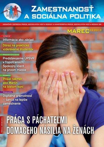 Marec 2010 - Ústredie práce, sociálnych vecí a rodiny