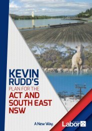 KEVIN RUDD'S POSITIVE PLAN fOR THE ACT AND SOUTH EAST ...