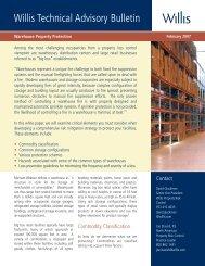 Willis Technical Advisory Bulletin