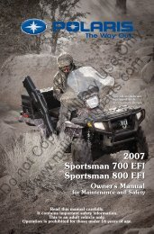 2007 Polaris Sportsman 700-800EFE Owner ... - Military ATV Parts