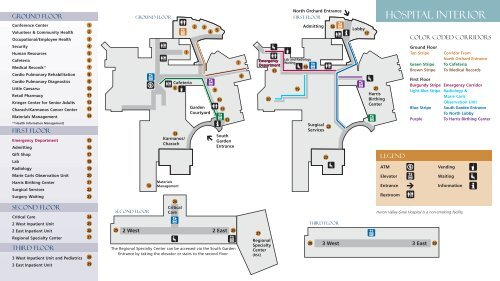 Download the Floor Maps - Huron Valley-Sinai Hospital