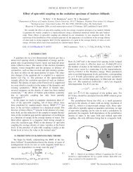 Effect of spin-orbit coupling on the excitation spectrum of Andreev ...