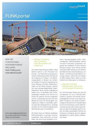 Produktblatt FUNKportal - swb Messung und Abrechnung Gmbh