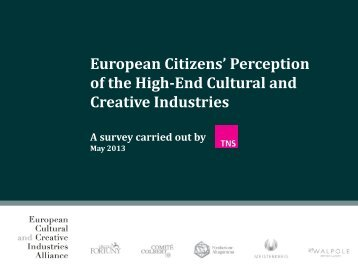 Survey - European Cultural and Creative Industries Alliance - ECCIA