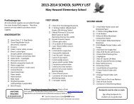 mhes school supply list 2013-14 all