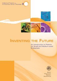 Inventing the Future: An Introduction to Patents for - WIPO
