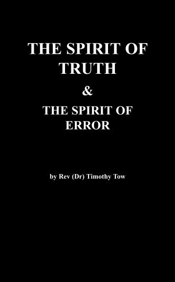 THE SPIRIT OF TRUTH - Far Eastern Bible College