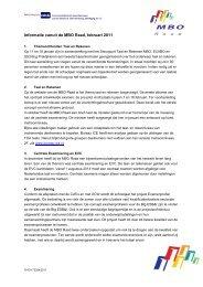 Informatie vanuit de MBO Raad, februari 2011 leren
