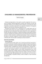 Evaluarea si managementul preoperator - Cursul national de ghiduri ...