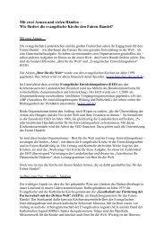 Beitrag - Dienst für Mission, Ökumene und Entwicklung (DiMOE)