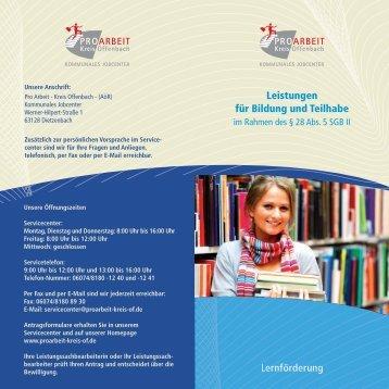 Lernförderung Leistungen für Bildung und Teilhabe