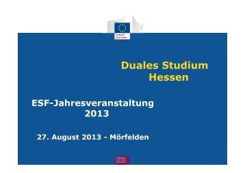 Vortrag von - Duales Studium Hessen