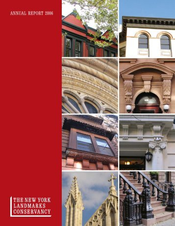 ANNUAL REPORT 2006 - The New York Landmarks Conservancy