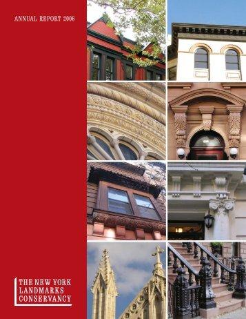 ANNUAL REPORT 2006 - The New York Landmarks Conservancy