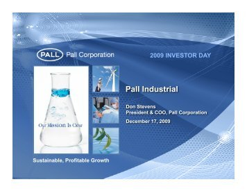 Don Stevens - Pall Corporation (PLL)