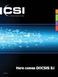 Here comes DOCSIS 3.1 - CSI Magazine