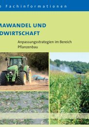 Klimawandel und Landwirtschaft - Anpassungsstrategien im Bereich ...