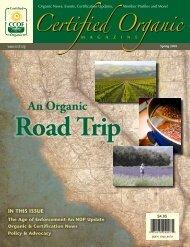 An Organic Road Trip - CCOF