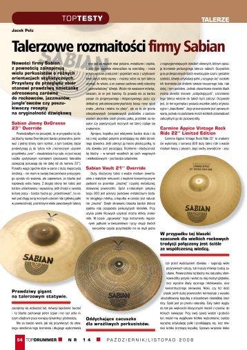 Talerze perkusyjne firmy Sabian - Music Info