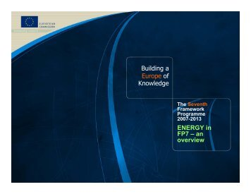 Energy - EU Commission overview (pdf) - Seventh EU Framework ...