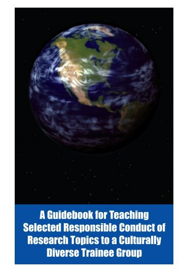 A Guidebook for Teaching Selected Responsible Conduct of ...