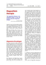 Magnetfeld- therapie